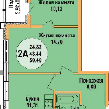 ЖК Арена Парк (Краснодар) – планировка №2