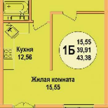 ЖК Арена Парк (Краснодар) – планировка №1