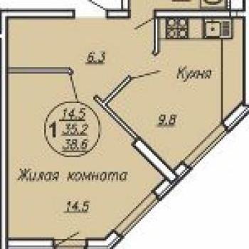 ЖК Маршал (Краснодар) – планировка №4