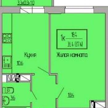 ЖК Ясный (Краснодар) – планировка №3