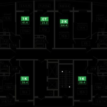 ЖК Флотилия (Краснодар) – планировка №1
