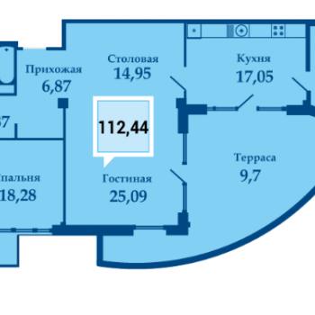 ЖК Фамилия (Краснодар) – планировка №9