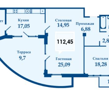 ЖК Фамилия (Краснодар) – планировка №8