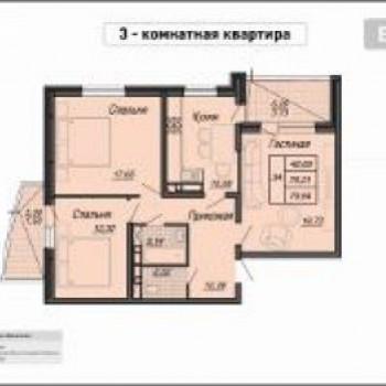 ЖК на Репина (Краснодар) – планировка №2