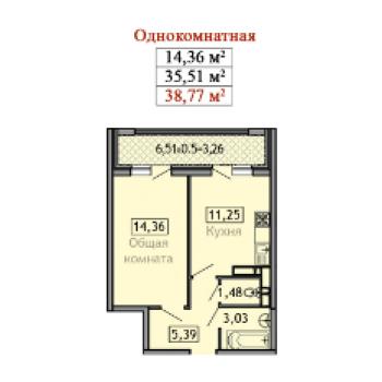 ЖК Дом Романовых (Краснодар) – планировка №5