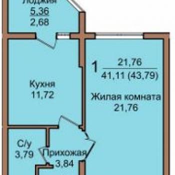 ЖК Янтарь (Краснодар) – планировка №1