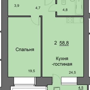 ЖК SkySeven (Скайсевен) (Красноярск) – планировка №3