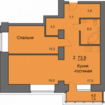 ЖК SkySeven (Скайсевен) (Красноярск) – планировка №1