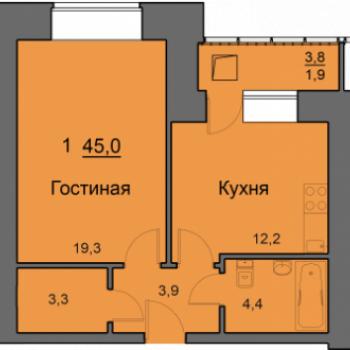 ЖК SkySeven (Скайсевен) (Красноярск) – планировка №4