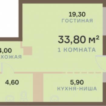 ЖК Взлетная 7 (Красноярск) – планировка №13