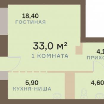 ЖК Взлетная 7 (Красноярск) – планировка №16