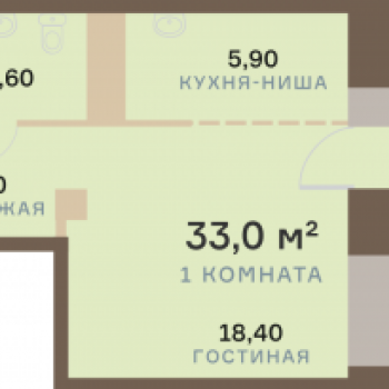 ЖК Взлетная 7 (Красноярск) – планировка №15