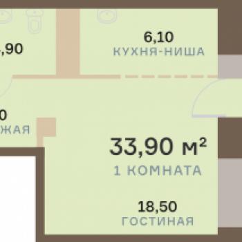 ЖК Взлетная 7 (Красноярск) – планировка №12