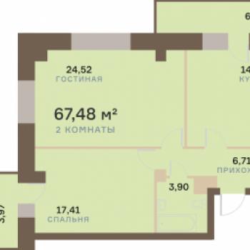 ЖК Бограда (Красноярск) – планировка №6