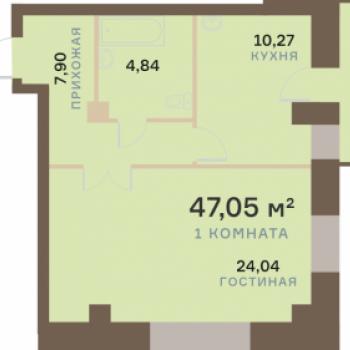 ЖК Бограда (Красноярск) – планировка №7
