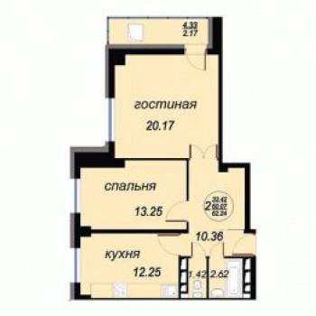 ЖК Вавиловский (Красноярск) – планировка №6