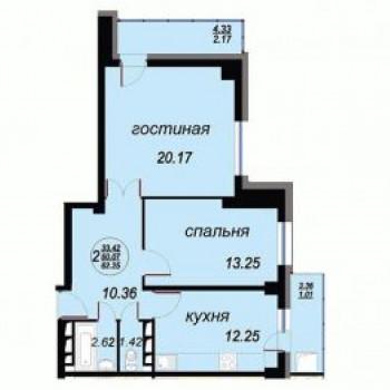 ЖК Вавиловский (Красноярск) – планировка №3