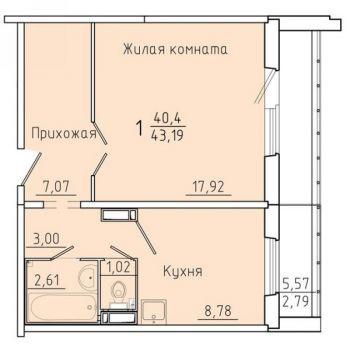 ЖК Покровский (Красноярск) – планировка №7