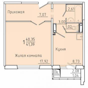 ЖК Покровский (Красноярск) – планировка №4
