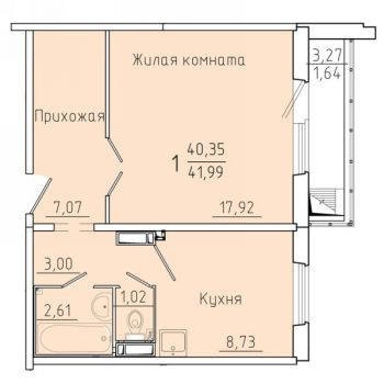ЖК Покровский (Красноярск) – планировка №6