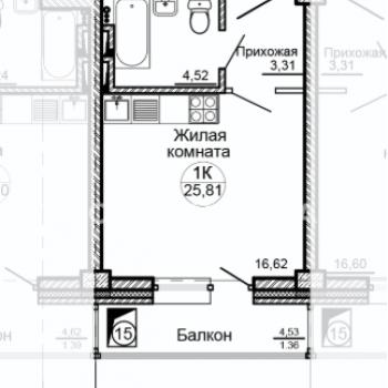 ЖК Глобус-Юг (Красноярск) – планировка №7