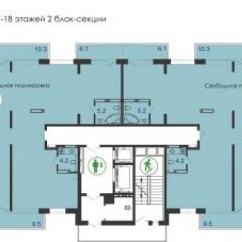 ЖК Грин парк (Green Park) (Красноярск) – планировка №4
