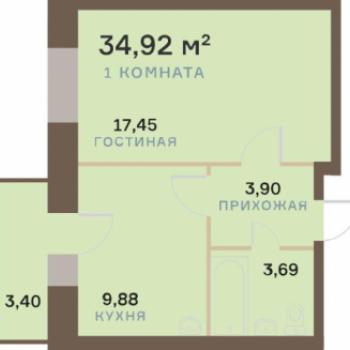 ЖК Бульвар Экзюпери (Красноярск) – планировка №5