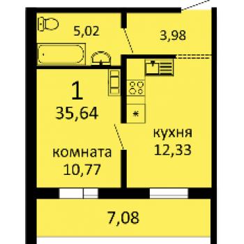 ЖК Семейный (Курган) – планировка №1