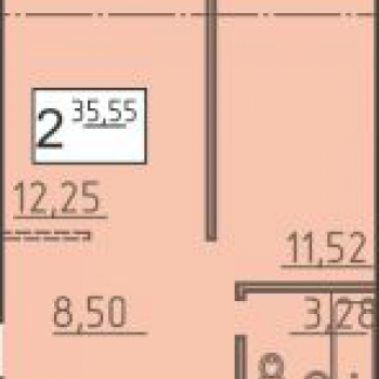ЖК Родной дом (Курган) – планировка №3