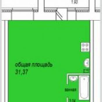 ЖК Семерочка (Курган) – планировка №3