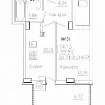 ЖК на Агрегатной (Курск) – планировка №1