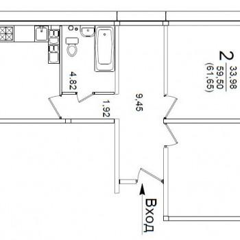 ЖК Белорусский квартал (Курск) – планировка №2