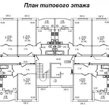 ЖК Белорусский квартал (Курск) – планировка №1