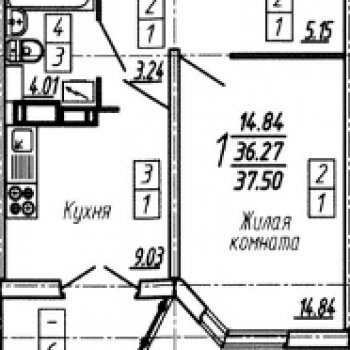 ЖК Жуковский (Липецк) – планировка №1