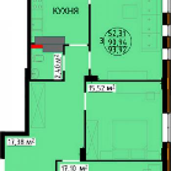 ЖК Континент (Липецк) – планировка №4