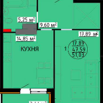 ЖК Континент (Липецк) – планировка №1