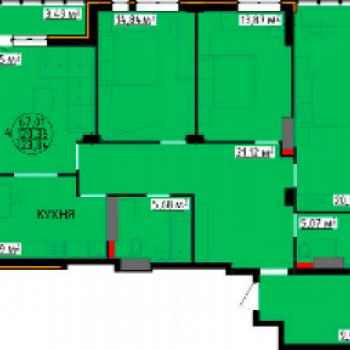 ЖК Континент (Липецк) – планировка №3