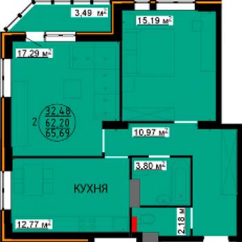 ЖК Континент (Липецк) – планировка №5