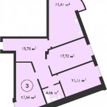 ЖК мкр. Европейский (Липецк) – планировка №2
