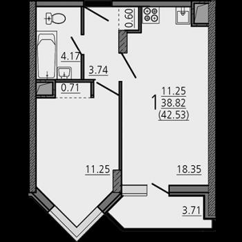 ЖК Карамель (Липецк) – планировка №5