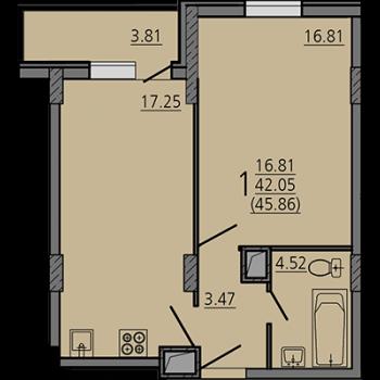 ЖК Карамель (Липецк) – планировка №3