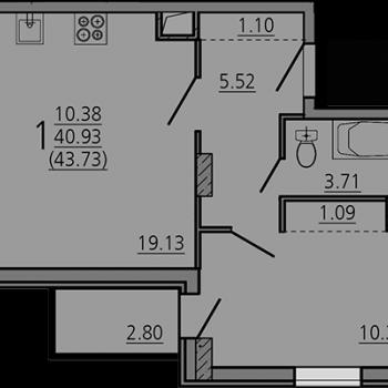 ЖК Карамель (Липецк) – планировка №2