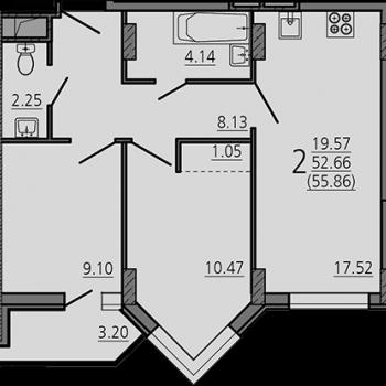 ЖК Карамель (Липецк) – планировка №8