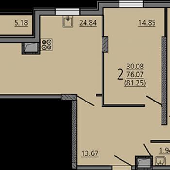 ЖК Карамель (Липецк) – планировка №7