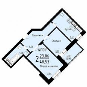 ЖК 29 микрорайон (Липецк) – планировка №3