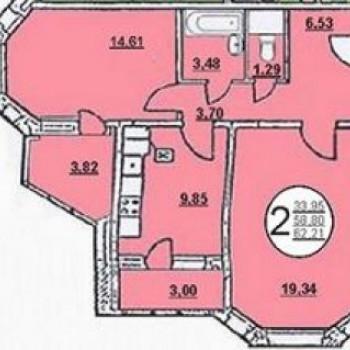 Жилой дом №5 (Липецк) – планировка №3