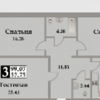 ЖК Московский (Махачкала) – планировка №2