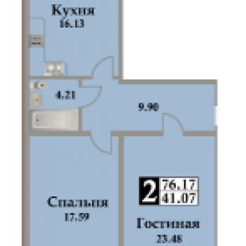ЖК Московский (Махачкала) – планировка №3