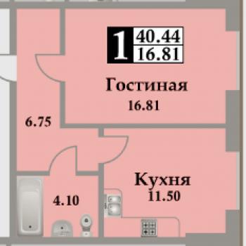 ЖК Московский (Махачкала) – планировка №1