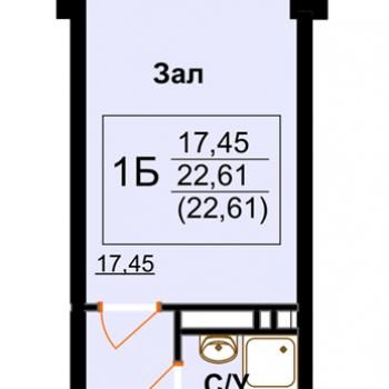 ЖК Арктур (Махачкала) – планировка №1